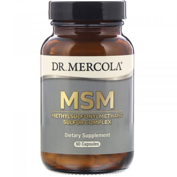 mercola msm 1 600x600 - MSM with Organic Sulfur Complex (60 Capsules) - Dr. Mercola