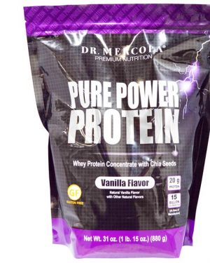 mercola pure power protein vanilla 1 300x375 - Pure Power Proteine, Vanilla smaak (880 g) - Dr. Mercola