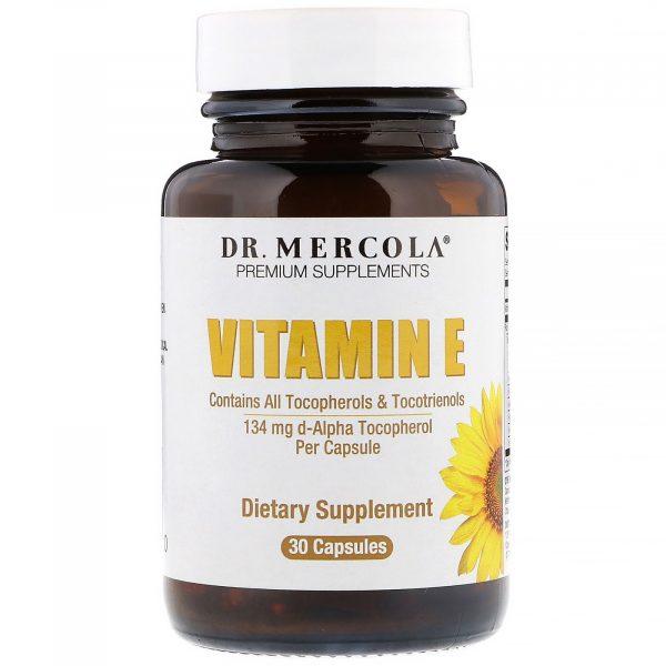 mercola vitamine 1 600x600 - Vitamine E tocoferolen & tocotriënolen (30 Licaps Capsules) - Dr Mercola