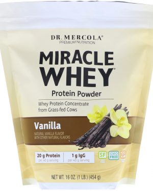 mercola whey vanilla1 300x375 - Wonder Whey Eiwitpoeder, Vanillesmaak (454 g) - Dr. Mercola