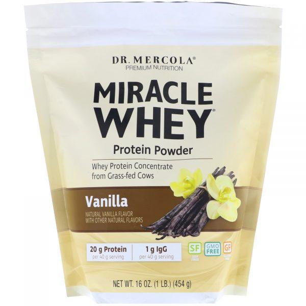 mercola whey vanilla1 600x600 - Wonder Whey Eiwitpoeder, Vanillesmaak (454 g) - Dr. Mercola