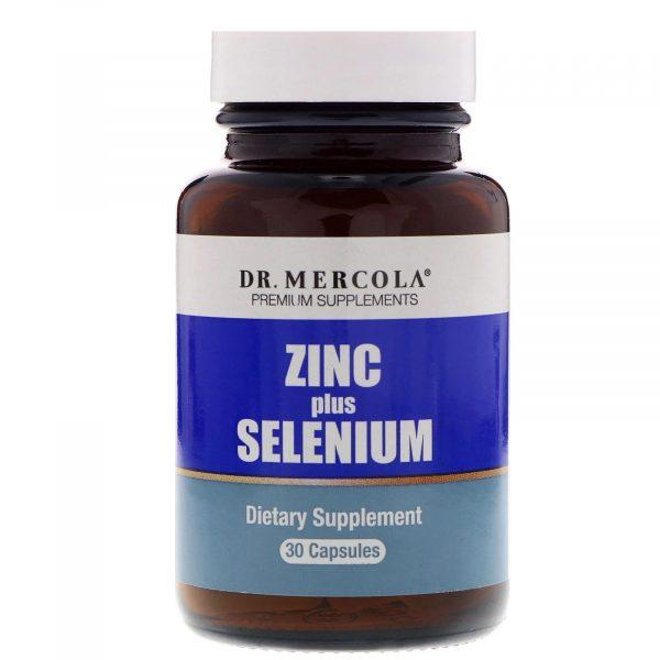 mercola zincselenium1 600x600 - Zinc plus Selenium 15 mg (30 capsules) - Dr. Mercola
