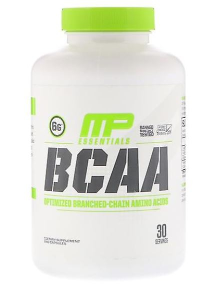 mp bcaa 240 - BCAA 3:1:2 Capsules Pack of 240 - MusclePharm