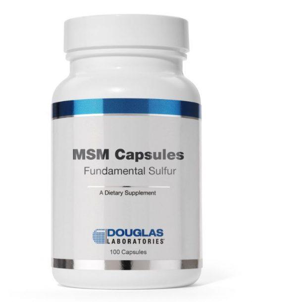 msm capsules fundamental sulfur 90 capsules douglas laboratories 1 600x610 - MSM Capsules met zwavel (90 capsules) - Douglas Laboratories