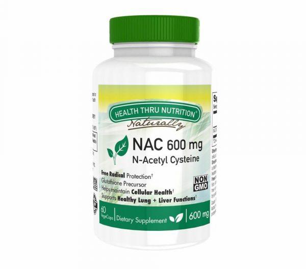 nac n acetyl cysteine 600mg 60 vegecaps non gmo 4 600x528 - N-Acetyl Cysteine NAC 600 mg (non-GMO) (60 Vegicaps) - Health Thru Nutrition