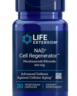 nad cell regenerator nicotinamide riboside 100 mg 300x375 - Nad + Cell Regenerator Nicotinamide Riboside 100 Mg - 30 vegetarische Capsules - Life Extension