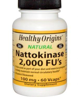 nattokinase healthy origins 1 300x375 - Nattokinase, 2000 FU's, 100 mg (60 vegetarische capsules) - Healthy Origins