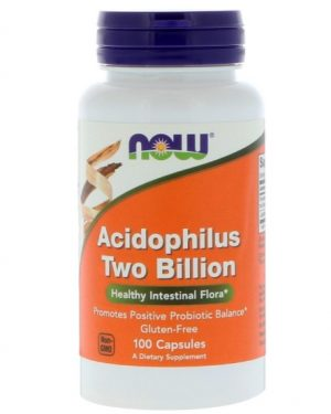 now foods acidop 1 300x375 - Acidophilus Two Billion (100 capsules) - Now Foods