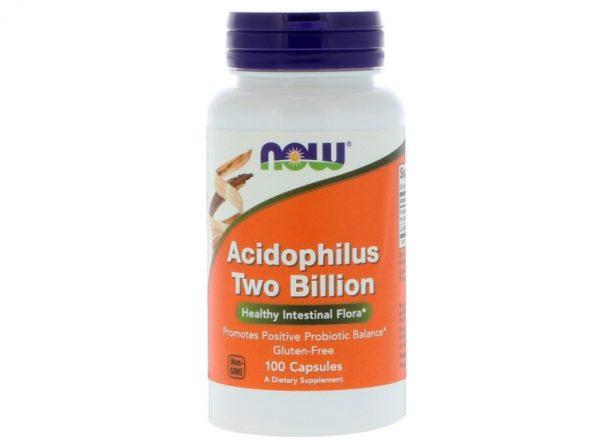 now foods acidop 1 600x441 - Acidophilus Two Billion (100 capsules) - Now Foods