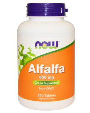 now foods alfalfa 1 300x375 - Alfalfa 650 mg (250 tablets) - Now Foods