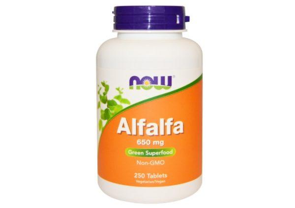 now foods alfalfa 1 600x423 - Alfalfa 650 mg (250 tablets) - Now Foods