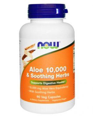 now foods aloe 1 300x375 - Aloe 10.000 & Soothing Herbs (90 Vegetarian Capsules) - Now Foods