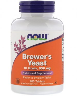 now foods brewers yeast 1 300x375 - Brewer's Yeast 650 mg (200 Tablets ) - Now Foods