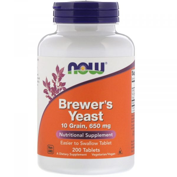 now foods brewers yeast 1 600x600 - Brewer's Yeast 650 mg (200 Tablets ) - Now Foods