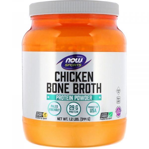 now foods chicken bone broth 544g 1 600x600 - Chicken Bone Broth (544 gram) - Now Foods