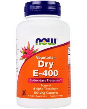 now foods drye400 1 300x375 - Dry E-400 Vegetarian (100 Vegetarian Capsules) - Now Foods