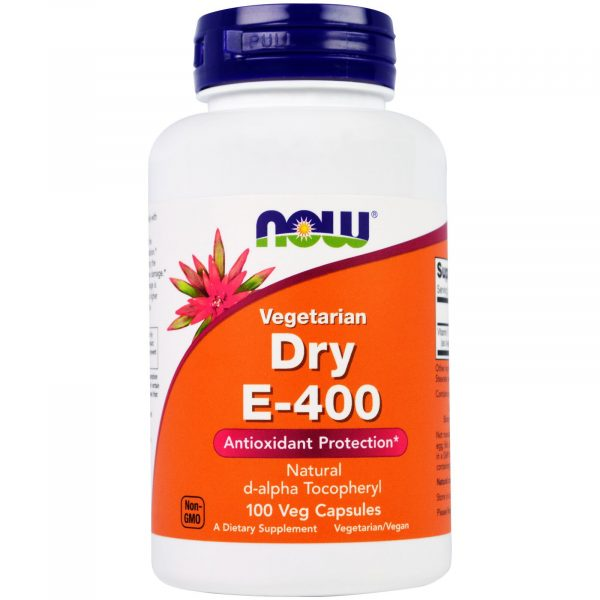 now foods drye400 1 600x600 - Dry E-400 Vegetarian (100 Vegetarian Capsules) - Now Foods