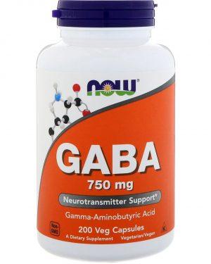 now foods gaba 750 1 300x375 - GABA- 750 mg (200 Vegetarian Capsules) - Now Foods