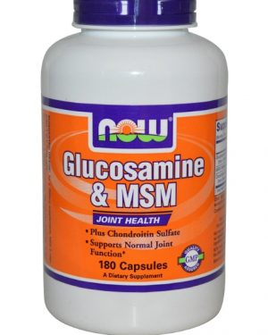 now foods glucosamine 1 300x375 - Glucosamine & MSM (180 Capsules) - Now Foods