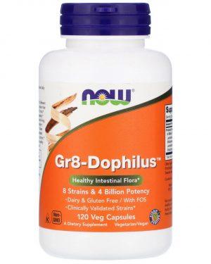 now foods gr8 dophilus 1 300x375 - Gr8-Dophilus (120 Vegetarian Capsules) - Now Foods