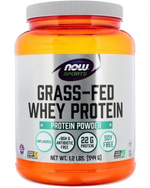 now foods grass fed whey protein 1 300x375 - Grass-Fed Whey Protein Concentrate- Natural Unflavored (544 gram) - Now Foods