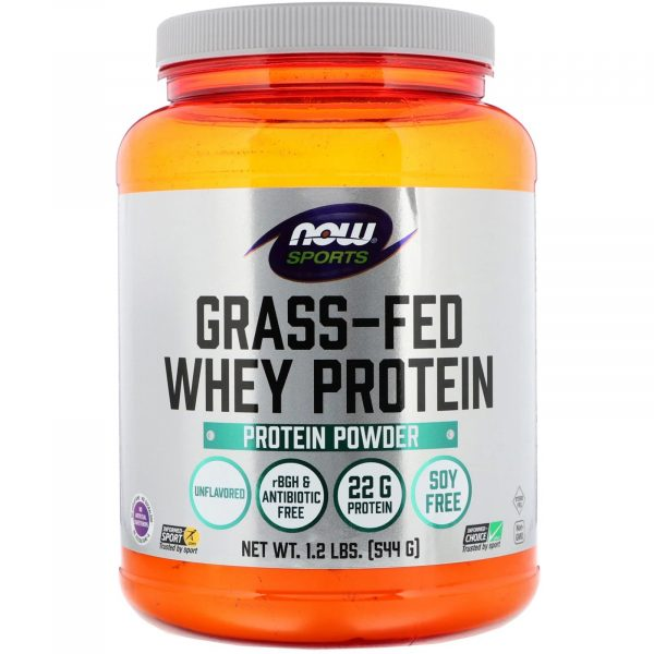 now foods grass fed whey protein 1 600x600 - Grass-Fed Whey Protein Concentrate- Natural Unflavored (544 gram) - Now Foods