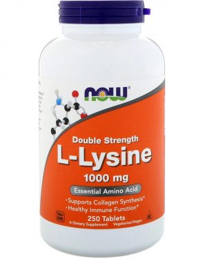 now foods llysine 1000 250 1 300x375 - L-Lysine- 1000 mg (250 tablets) - Now Foods