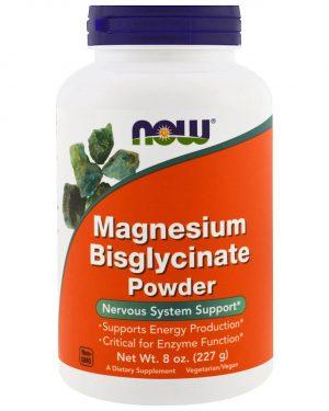 now foods magnesium bisglycinate 1 300x375 - Magnesium Bisglycinate Powder (227 gram) - Now Foods