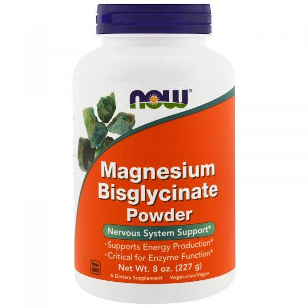 now foods magnesium bisglycinate 1 600x600 - Magnesium Bisglycinate Powder (227 gram) - Now Foods