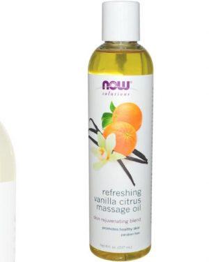 now foods massage oil 1 300x375 - Refreshing Vanilla Citrus Massage Oil (237 ml) - Now Foods