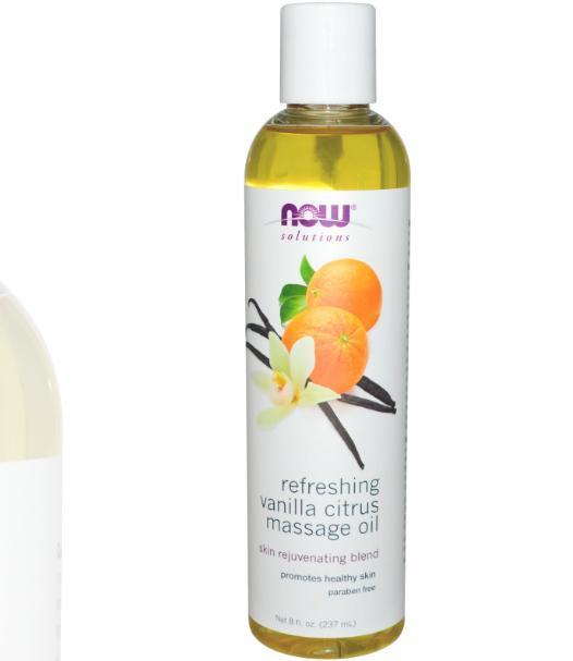 now foods massage oil 1 - Refreshing Vanilla Citrus Massage Oil (237 ml) - Now Foods