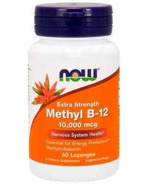 now foods methylb12 1 300x375 - Methyl B-12 Extra Strength 10.000 mcg (60 lozenges) - Now Foods