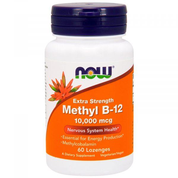 now foods methylb12 1 600x600 - Methyl B-12 Extra Strength 10.000 mcg (60 lozenges) - Now Foods