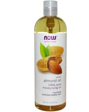 now foods solutions sweet almond oil 16 fl oz 473 ml 300x375 - Zoete amandel olie (473 ml) - Now Foods