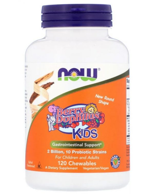 now foods berry dophilus kids 2 billion 120 chewables1 600x754 - Now Foods, Berry Dophilus, Kids, 2 Billion, 120 Chewables