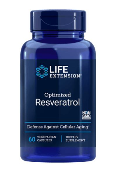 optimized resveratrol le 1 - Optimized Resveratrol 60 Vegetarian Capsules - Life Extension