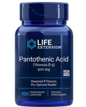 pantothenic acid vitamin b5 500 mg 1 300x375 - Pantotheenzuur (Vitamine B5) 500 Mg 100 Capsules - Life Extension