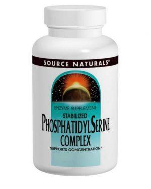 phosphatidylserine complex source naturals 300x375 - Gestabiliseerde Phosphatidyl Serine Complex, 500 mg (60 Softgels) - Source Naturals