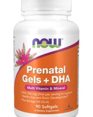 prenatal gels dha 180 softgels   now foods1 300x375 - Prenatal Gels + DHA (180 softgels) - Now Foods