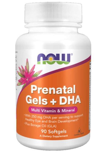 prenatal gels dha 180 softgels   now foods1 - Prenatal Gels + DHA (180 softgels) - Now Foods