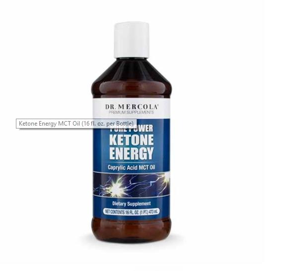 pure ketone energy mercola 1 - Ketone Energy MCT Oil (473 ml) - Dr. Mercola
