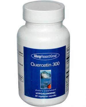 quercetin 300 allergy 300x375 - Quercetin 300 60 Veggie Caps - Allergy Research Group