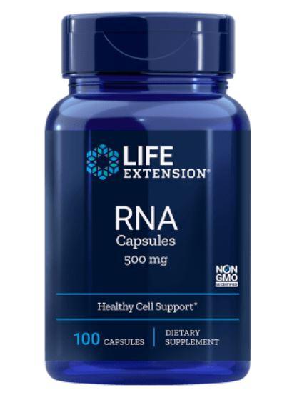 rna ribonucleic acid 500 mg   100 capsules 1 - Rna (Ribonucleïnezuur) 500 Mg - 100 Capsules - Life Extension