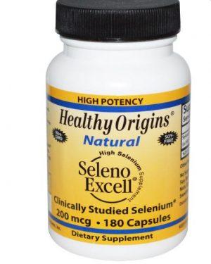 seleno excell healthy origins 1 300x375 - Seleno Excell Selenium 200mcg (180 capsules) - Healthy Origins