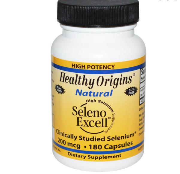 seleno excell healthy origins 1 - Seleno Excell Selenium 200mcg (180 capsules) - Healthy Origins