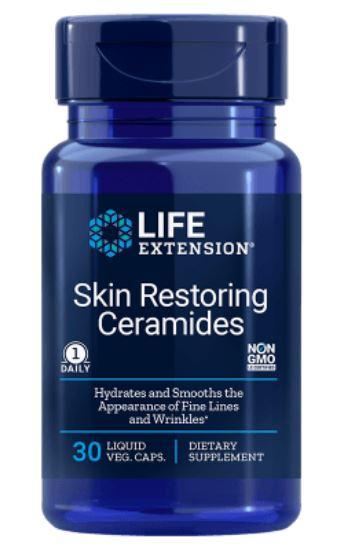 skin restoring phytoceramides 1 - Huidherstellende Phytoceramiden met Lipowheat (30 vegetarische vloeibare Caps) - Life Extension