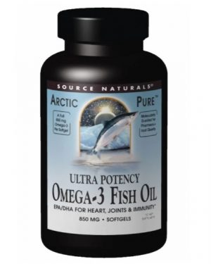 source artic omgea 300x375 - Arctic Pure- Omega-3 Fish Oil- Ultra Potency- 850 mg (60 softgels) - Source Naturals