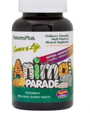source of life animal   parade children s chewable   natural assorted flavors 90 chewable tablets   nature s plus1 300x375 - Source of Life Animal - Parade Children's Chewable - Natural Assorted Flavors (90 Chewable Tablets) - Nature's Plus
