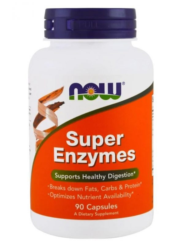 super enzymes 90 capsules   now foods1 600x785 - Super Enzymes (90 capsules) - Now Foods