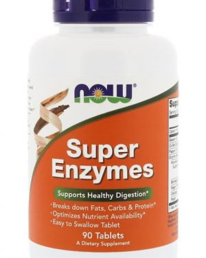 super enzymes 90 tablets   now foods1 300x375 - Super Enzymes (90 tablets) - Now Foods